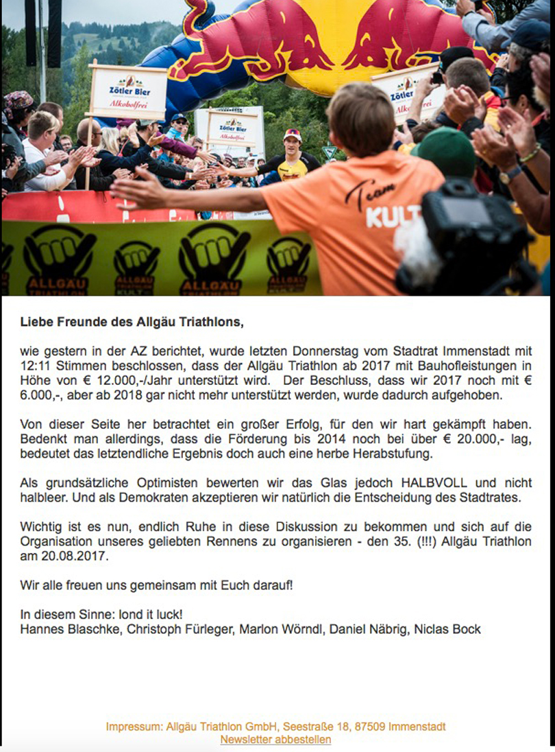Triathlon Newsletter